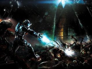 обои Dead space 2,   расстрел монстров фото