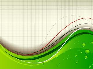 обои Зеленая волна на фоне тетрадного листа фото
