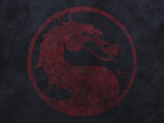 обои Mortal kombat,   значок с драконом фото
