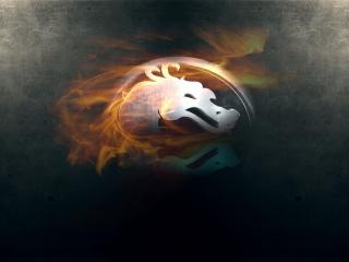 обои Mortal kombat,   логотип смертельной битвы фото