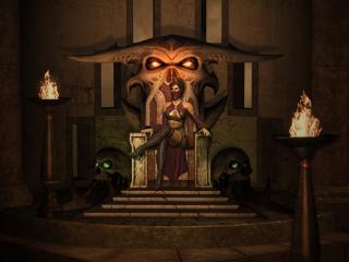 обои Mortal kombat,   милина на троне фото
