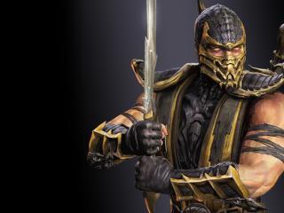 обои Mortal kombat,   ниндзя скорпион фото