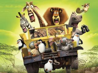 обои Герои мультфильма Мадагаскар фото