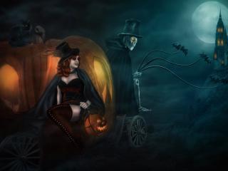 обои Золушка на хелоуин фото