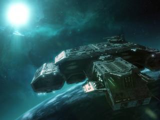 обои Междупланетный корабыль фото