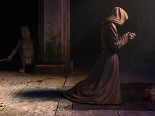 обои Молитва монаха фото