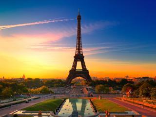 обои Башня франции на закате фото