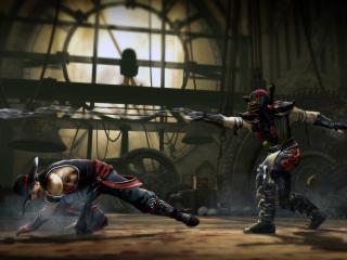 обои Mortal kombat,   поединок двоих фото