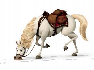 обои Лошадь идет по следу фото