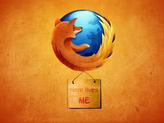 обои Mozilla лиса на планете,   надпись на фоне фото