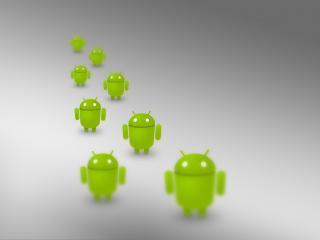 обои Андроиды ос зеленого цвета фото