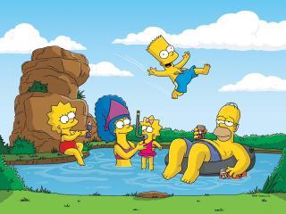 обои Симпсоны на отдыхе фото