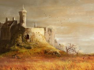 обои Средневековый замок фото