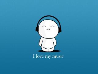 обои Я люблю свою музыку фото