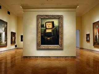 обои Картина мона лиза в стиле кубизма фото