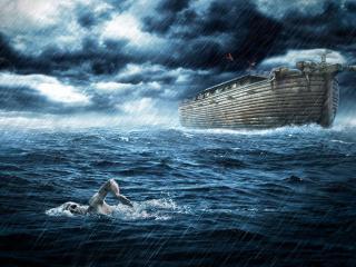 обои Ковчег и плавец у всемирный потоп фото
