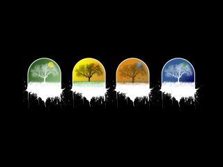 обои Четыре символа природы фото