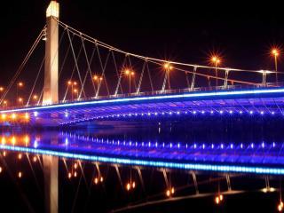 обои Мост с подсветкой фото