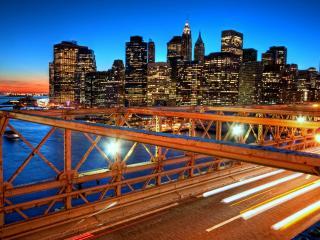 обои Нью-Йорк на закате фото