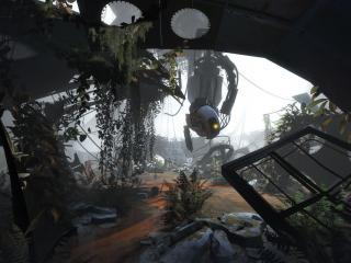 обои Portal 2,   робот вальв фото