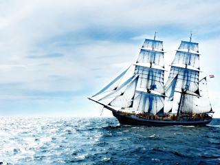 обои Голубые паруса в бескрайнем океане фото