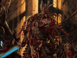 обои Монстр с неоновым мечем фото