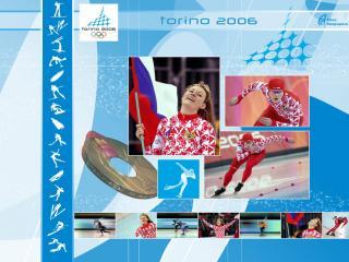 обои Олимпийские игры в Торино. Конькобежный спорт фото