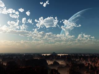 обои Небо и  скалы фото