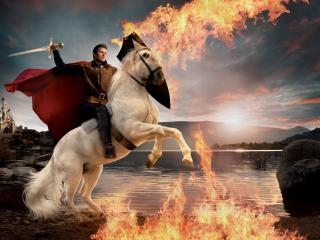 обои Принц на белом коне фото
