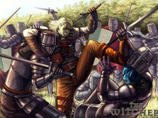 обои Рыцари в доспехах и блондин фото