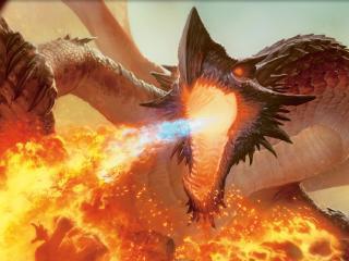 обои Пламя дракона фото