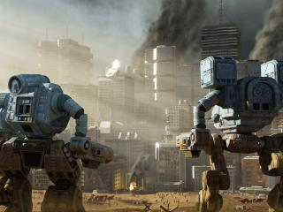 обои Роботы в мегаполисе фото