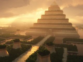 обои Тучи над пирамидой фото