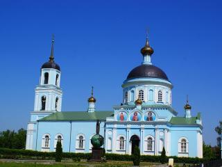 обои Русская сельская церковь фото