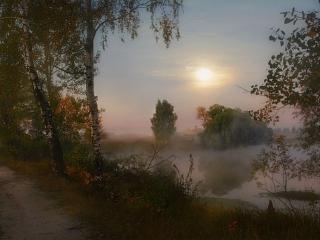 обои Туман над озером - картина фото