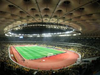 обои для рабочего стола: Спортивная арена перед матчем