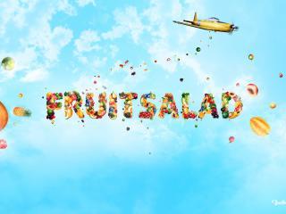 обои Надпись - FRUITSALAD фото