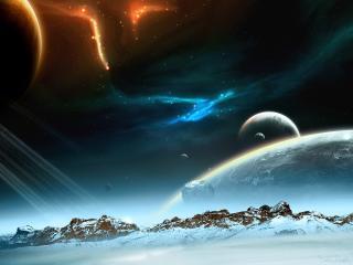 обои Падающие метеориты фото