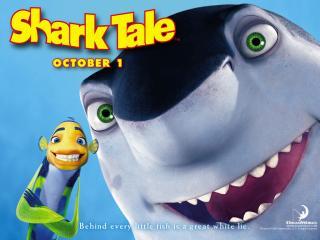 обои Подводная братва (Shark Tale) - акула фото