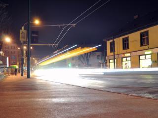 обои Улица вечерняя фото