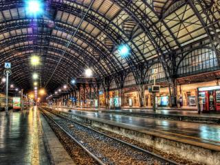 обои Вид железнодорожного вокзала фото