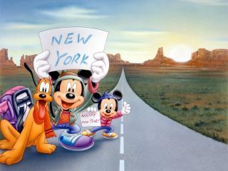 обои Мультфильмы Walt Disney - едут в Нью-Йорк фото