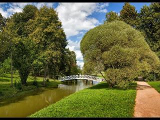 обои Парк и ажурный мост фото