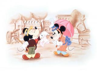 обои Мультфильмы Walt Disney Микки встречается с Минни фото