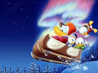 обои Мультфильмы Walt Disney - волшебные сани фото