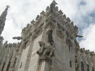 обои Богатая архитектура собора в милане фото