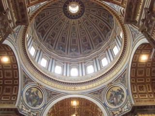 обои Внутренний купол храма святого петра фото