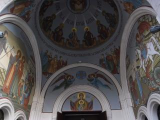 обои Иконопись купола православной церкви в грузии фото