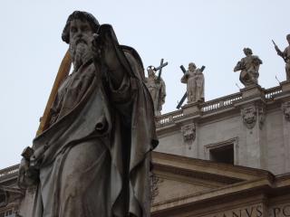 обои Скульптуры на площади петра в ватикане фото