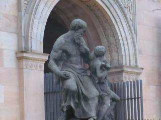 обои для рабочего стола: Скульптуры у музея в берлине